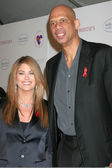 Kathy Ireland & Kareem Abdul-Jabbar — Stock Photo