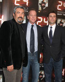John Cassar, Kiefer Sutherland & Carlos Bernard — Stock Photo