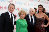 Michael Kirk Douglas, Anne Kirk Douglas, Kirk Douglas & Catherine Zeta-Jones — Stock Photo