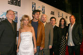 Werner Herzog, Cheryl Hines, Ray Romano, Zak Penn, Chris Parnell, Andrea Savage, and Woody Harrelson — Stock Photo