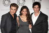 Paul Wesley, Nina Dobrev, Ian Somerhalder — Stock Photo