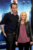 Wiill Arnett & Amy Poehler — Stock Photo