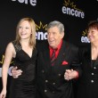 Daughter Danielle Sarah Lewis, Jerry Lewis, wife SanDee Pitnick — Stock Photo