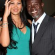 Kimora Lee and Djimon Hounsou — Stock Photo