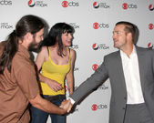 Pauley Perrette, husband, Chris O'Donnell — Stock Photo