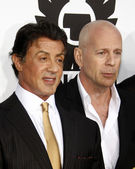Sylvester Stallone, Bruce Willis — Stock Photo