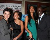 Kevin Jonas & Wife Danielle, Kimora Lee and Djimon Hounsou — Stock Photo