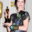 Costume designer Sandy Powell, winner of Best Costume Design awa - Stock Photo