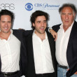 Rob Morrow, David Krumholtz, and Judd Hirsch — Foto Stock