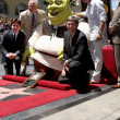 Постер, плакат: Mike Myers Shrek Antonio Banderas & Chamber Officials
