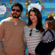 Ali Landry, Daughter Estela, husband — 图库照片