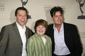 Jon Cryer, Angus T. Jones, and Charlie Sheen — Stock Photo
