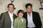 Jon Cryer, Angus T. Jones, and Charlie Sheen — Stock Photo
