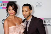 Christine Teigen, John Legend — Stock Photo