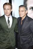 Ryan Gosling, George Clooney — Stock Photo