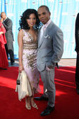 Kirk Franklin & Wife — Foto Stock