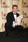 Chris Isaak & His Dog — Stock Photo