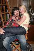 Michael Graziadei & Adrienne Frantz — Stock Photo
