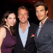 Eden Riegel, Doug Davidson, Peter Porte — Stock Photo