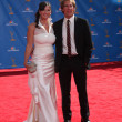Scott Bakula, wife Chelsea Fields — Stockfoto