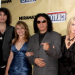Постер, плакат: Nick Sophie and Gene Simmons with Shannon Tweed
