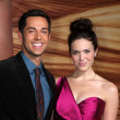 Zachary Levi, Mandy Moore - Stock Photo