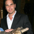 Don Diamont & Aligater, with handler — Lizenzfreies Foto