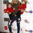 Brooke Mueller, sons Bob and Max - Stock Photo