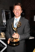 Bradley Bell with 2009 Emmy for Best Show — Foto Stock