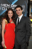 Lynn Collins & husband Steven Strait — Stock Photo