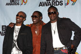 Ralph Tresvant, Johnny Gill, and Bobby Brown of the group Heads — Stock Photo