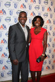 Viola Davis and husband — Stock Photo