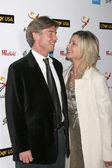 John Easterling & Olivia Newton-John — Stock Photo