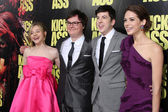 Chloe Moretz, Clark Duke, Christopher Mintz-Plasse, Lyndsy Fonseca — Stock Photo