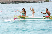 Heather Tom & Jennyfer Garels in Bora Bora — Stock Photo