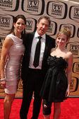 Tim Allen, wife, older daughter — Stock Photo