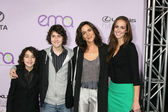 Alex and Nat Wolff, Mother Polly Draper and cousin Jesse Draper — Stock Photo