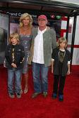 Tony Scott and Family — Stock Photo