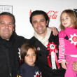 Gilles Marini & Children, with friend - Stock Photo