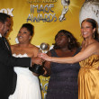 Director Lee Daniels, actresses Mo&#039;Nique, Gabourey Sidibe and Paula Patton - Stock Photo