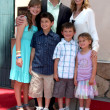 Marlee Matlin & Husband Kevin Grandalski , with children - Stock Photo