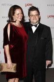Patton Oswalt, wife Michelle Eileen McNamara — Stock Photo