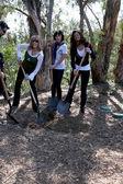 Leeza Gibbons, Marisa Ramirez, & Claudia Jordan — Stock Photo