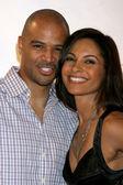 Dondre T. Whitfiled & Wife Salli Richardson — Stock Photo
