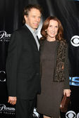 Jerry Bruckheimer & wife Linda — Stock Photo