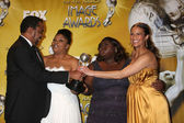 Director Lee Daniels, actresses Mo'Nique, Gabourey Sidibe and Paula Patton — Stock Photo