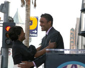 Angela Bassett and Rick Fox — 图库照片