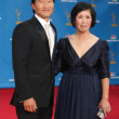 Daniel Dae Kim & Mother — Stock Photo
