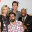 Yvonne Strahovski, Zach Levi, Mark Christopher Lawrence, Joshua  — Stock Photo