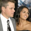 Постер, плакат: Matt Damon & wife Luciana